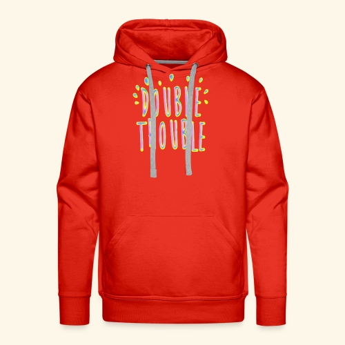 funny colorful letters design - Men's Premium Hoodie