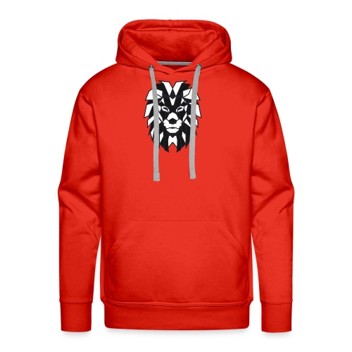 Lion black white - Men's Premium Hoodie