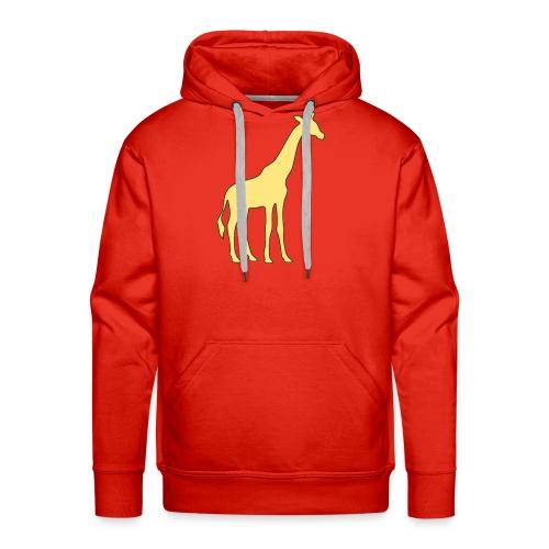 yellow giraffe - Men's Premium Hoodie