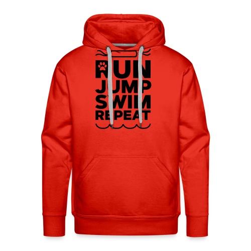 Run Jump Swim Repeat - black imprint - Men's Premium Hoodie