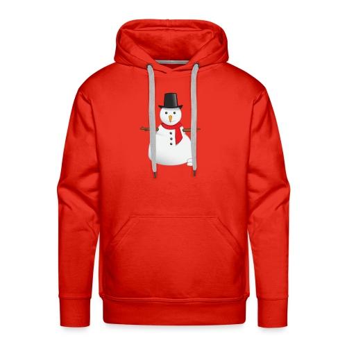 christmas-snowman-clipart-this-cute-snowman-clip-a - Men's Premium Hoodie