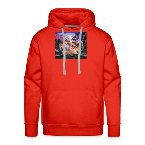 Wolfs with Indian - Men's Premium Hoodie