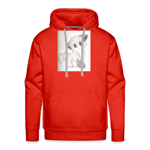 Adorable Drawing Of Anime Fox - Men's Premium Hoodie