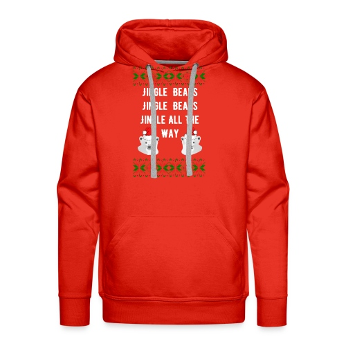 Jingle Bears (White Text) - Men's Premium Hoodie