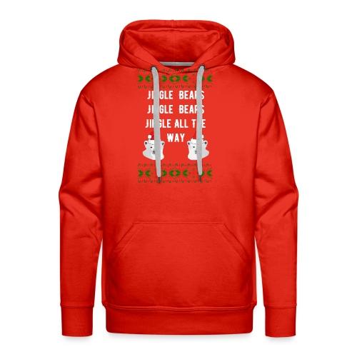 Jingle Bears (White Text) - Men's Premium Hoodie