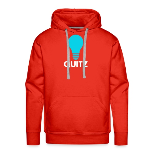 Quitz Blue w/ white text - Men's Premium Hoodie