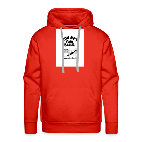 You Bet Your Balls on White - Men's Premium Hoodie
