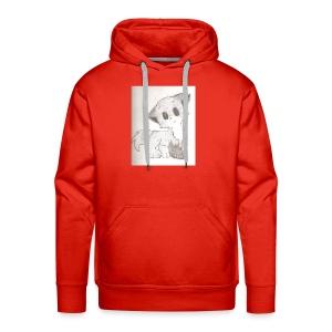 Adorable Drawing Of Anime Fox - Men's Premium Hoodie
