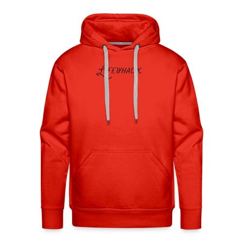 Black Lifewhack Logo Products - Men's Premium Hoodie