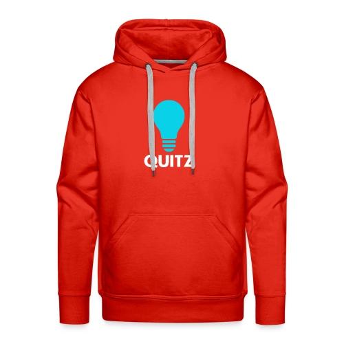 Quitz Blue w/ white text - Men's Premium Hoodie