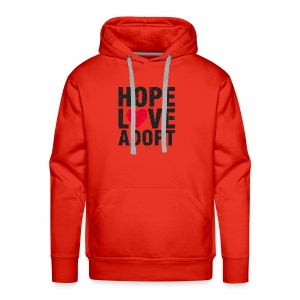 Hope, Love, Adopt - Men's Premium Hoodie