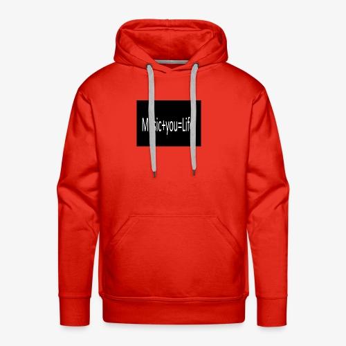 Music+you=Life - Men's Premium Hoodie