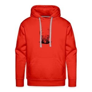 Real Scary Blood Skull - Men's Premium Hoodie