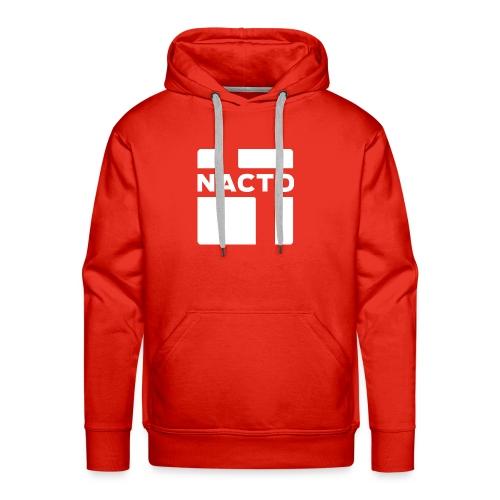 NACTO_logo_white - Men's Premium Hoodie