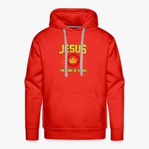 Jesus The king of kings religious shirt - Men's Premium Hoodie
