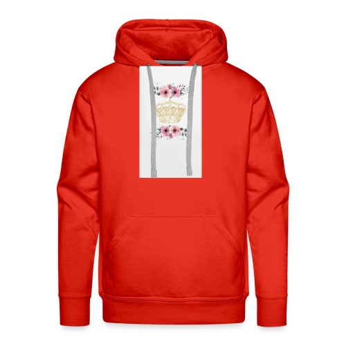 crowned with flowers - Men's Premium Hoodie