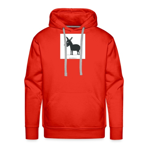 Awesome donkey animated - Men's Premium Hoodie