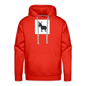 Awesome donkey animated - Men's Premium Hoodie