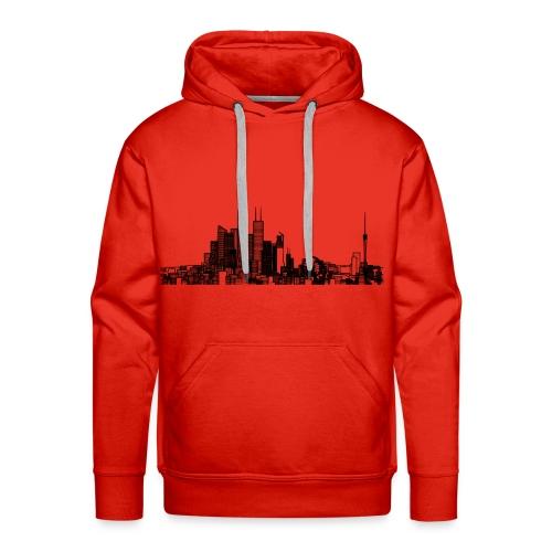 Pencil style city skyline - Men's Premium Hoodie