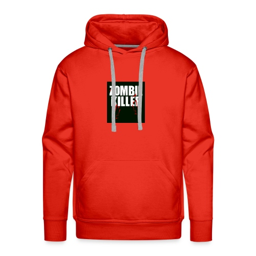 zombie killer shirt green - Men's Premium Hoodie