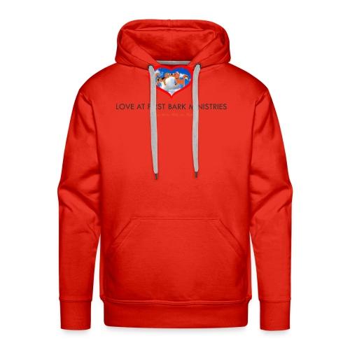 loveatfirstbarklogo - Men's Premium Hoodie