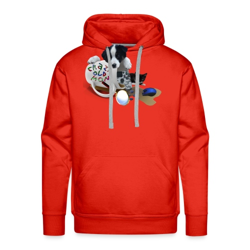 CrazyOldMom Twitch Logo - Men's Premium Hoodie