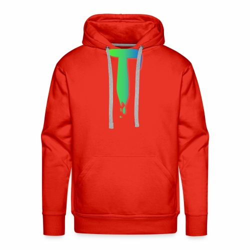 Colored Tlicker Logo - Men's Premium Hoodie