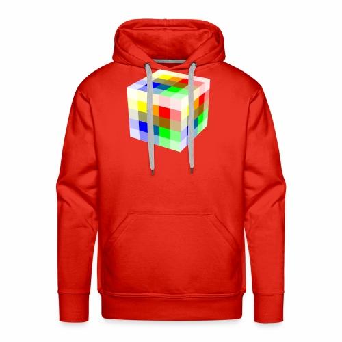 Multi Colored Cube - Men's Premium Hoodie