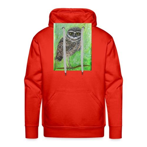 IMG 8818 Wise Owl - Men's Premium Hoodie