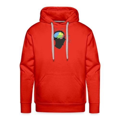 Corbin YT brain diagram - Men's Premium Hoodie