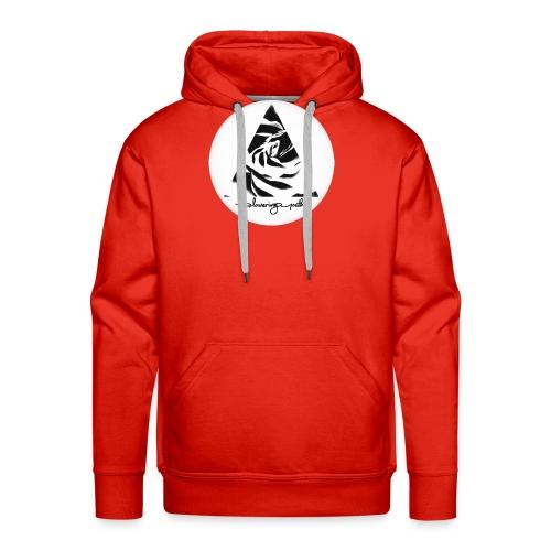 Flowering Youth Black and White - Men's Premium Hoodie