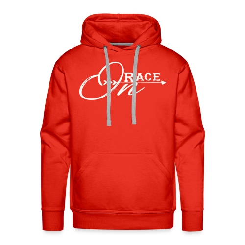 Race On WHITE - Men's Premium Hoodie