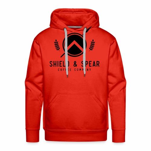 Shield and Spear Black Logo - Men's Premium Hoodie