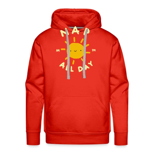 Nap All Day - AM - PM - Sleep O'clock - Men's Premium Hoodie