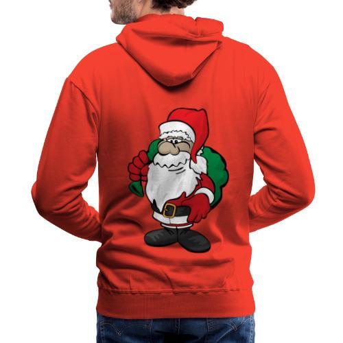 Santa Claus Cartoon Illustration - Men's Premium Hoodie