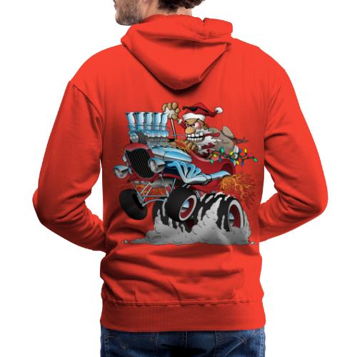 Hot Rod Santa Christmas Cartoon - Men's Premium Hoodie