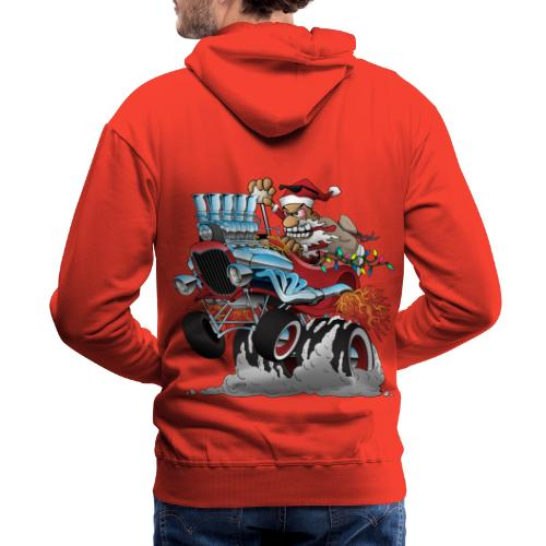 Hot Rod Santa Christmas Cartoon - Men's Premium Hoodie