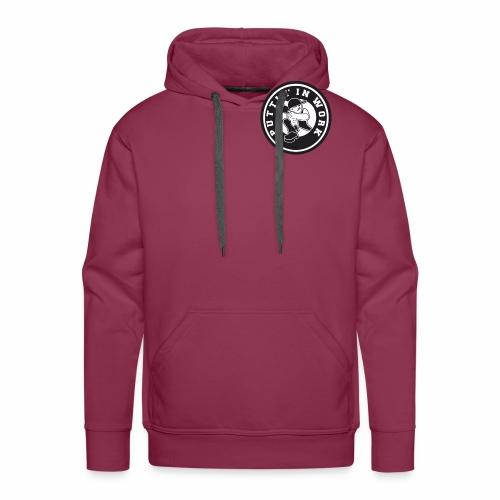Solid Puttin' In Work Logo - Men's Premium Hoodie