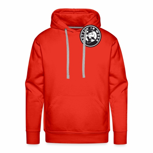 Solid Puttin' In Work Logo - Men's Premium Hoodie