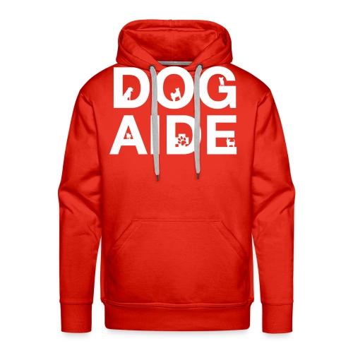 dog aide NEW white - Men's Premium Hoodie