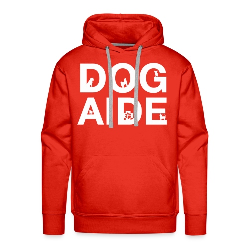 dog aide NEW white - Men's Premium Hoodie