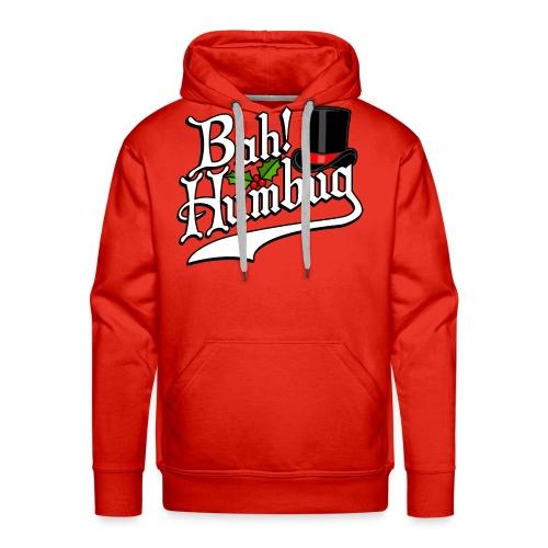 Bah Humbug Christmas Scrooge Funny No Humbuggery - Men's Premium Hoodie