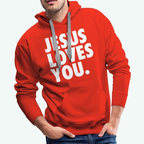 JESUS LOVES YOU - Men's Premium Hoodie