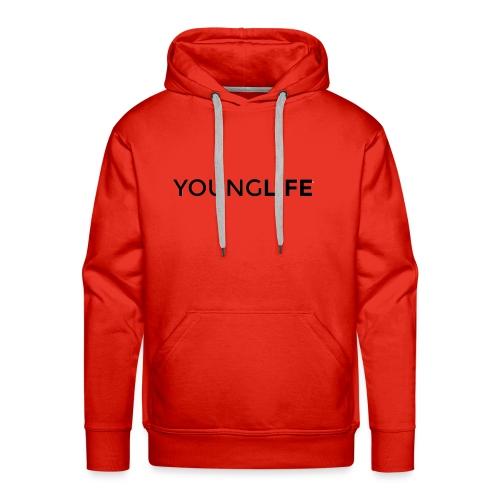 Young Life logo (text)(black) - Men's Premium Hoodie