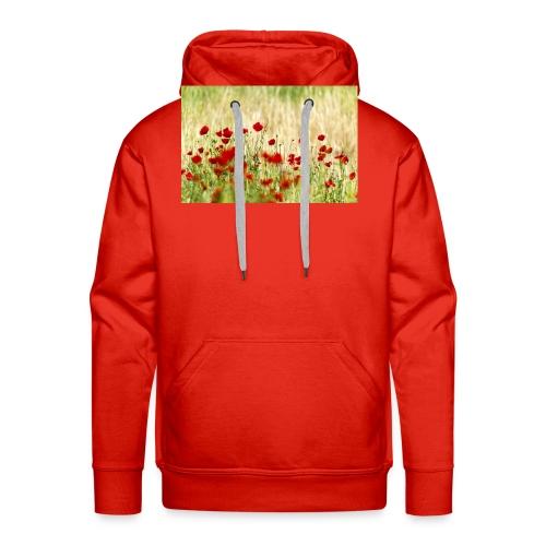 Iranian Poppies - Men's Premium Hoodie