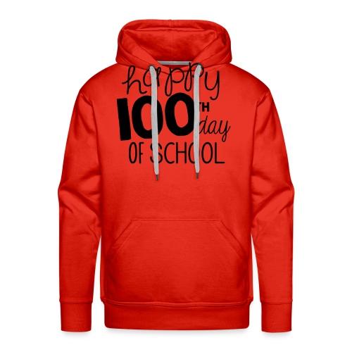 Happy 100th Day of School Chalk Teacher T-Shirt - Men's Premium Hoodie