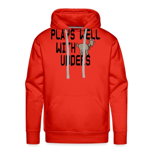 plays well with udders - Men's Premium Hoodie