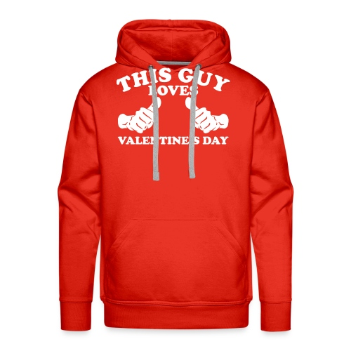 This Guy Loves Valentine's Day - Men's Premium Hoodie