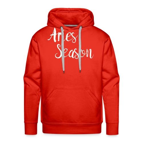 Aries Season Astrology Zodiac Horoscopes - Men's Premium Hoodie