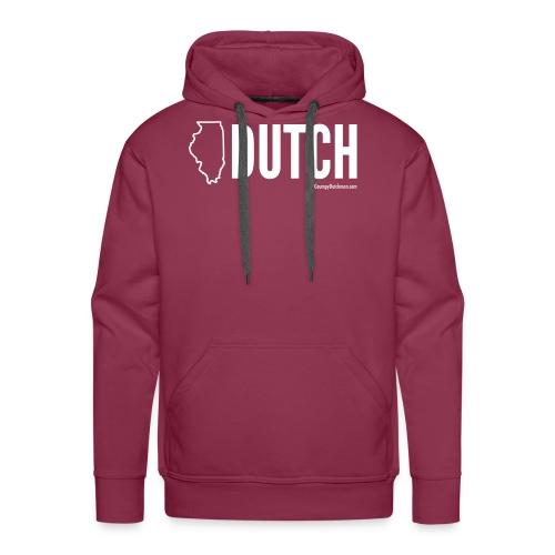 Illinois Dutch (White Text) - Men's Premium Hoodie